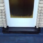 Anschluss an einer Balkontür mit Flüssigkunststoff
